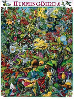 Hummingbirds Collage Jigsaw Puzzle