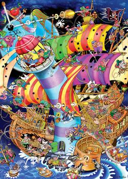 Lighthouse Crash Cartoons Jigsaw Puzzle