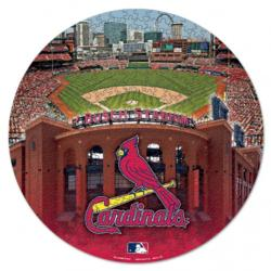 Official MLB St. Louis Cardinals Box St. Louis Round Jigsaw Puzzle