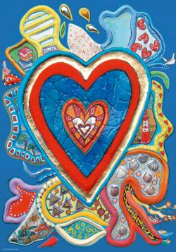 Red & Blue Hearts Jigsaw Puzzle