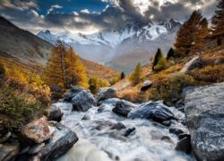 Mountain Stream Lakes / Rivers / Streams Jigsaw Puzzle
