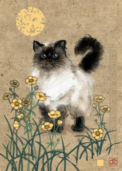 Meadow Cat Cats Jigsaw Puzzle
