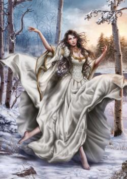 White Dream Winter Jigsaw Puzzle