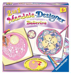 2 in 1 Mandala Designer - Ballerina Dance Arts and Crafts