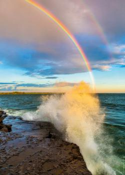 Rainbow Seascape / Coastal Living Jigsaw Puzzle