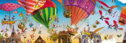 Ballooning Cartoons Panoramic Puzzle