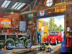 Following in Dad's Footsteps Vehicles Jigsaw Puzzle