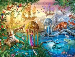 Shangri-La (Magical World) Boats Jigsaw Puzzle