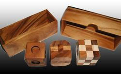 3 Puzzle Gift Set (Snake, Diamond Cube, Soma) Brain Teaser