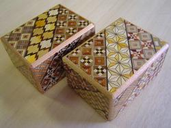 Japanese Puzzle Box - 3 Sun 12 Step Koyosegi Pattern Brain Teaser