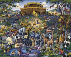 Noah's Ark Folk Art Jigsaw Puzzle