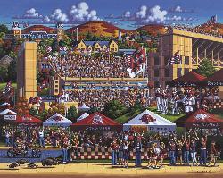 Arkansas Razorbacks Folk Art Jigsaw Puzzle