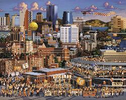 Tennessee Volunteers Folk Art Jigsaw Puzzle