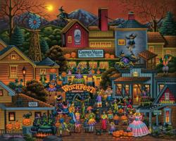 Gardner Village Witchfest Folk Art Jigsaw Puzzle