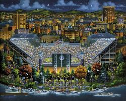 Washington Huskies Folk Art Jigsaw Puzzle