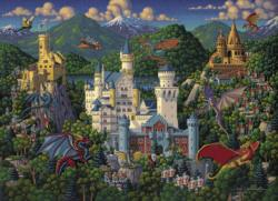 Imaginary Dragons Landscape Jigsaw Puzzle