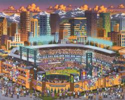Colorado Rockies Baseball Jigsaw Puzzle