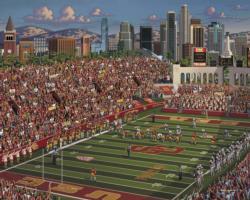 USC Trojans Folk Art Jigsaw Puzzle