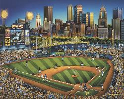 Pittsburgh Pirates Americana & Folk Art Jigsaw Puzzle