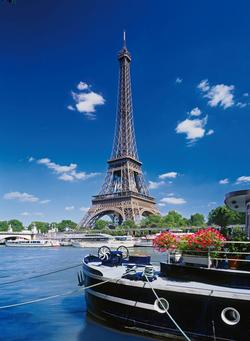 Paris - Eiffel Tower Boat View Eiffel Tower Jigsaw Puzzle