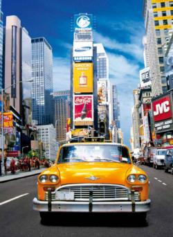 Taxi in Times Square - Scratch and Dent New York Jigsaw Puzzle