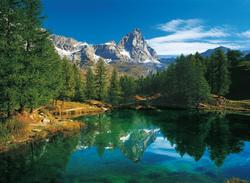 The Blue Lake - Matterhorn Outdoors Jigsaw Puzzle