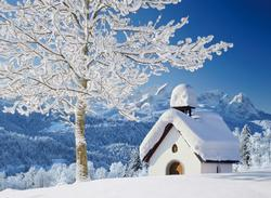 White Alpen Winter Jigsaw Puzzle