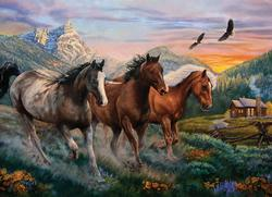 High Country Run Horses Jigsaw Puzzle