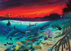 Marine Sanctuary Sunrise/Sunset Jigsaw Puzzle