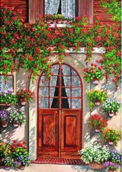 The Door Garden Jigsaw Puzzle