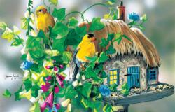 Dinner Dates Birds Jigsaw Puzzle