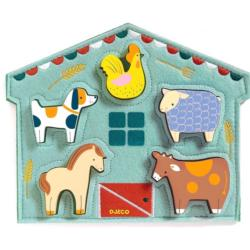 Mowy Chickens & Roosters Chunky / Peg Puzzle