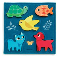 Gataki Animals Chunky / Peg Puzzle