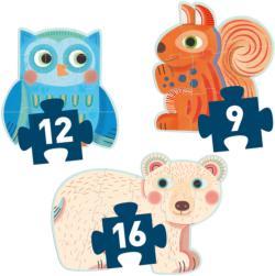 In the Forest Progressive Puzzle Animals Children's Puzzles