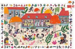 Hedgehog School Outdoors Children's Puzzles