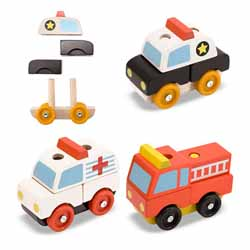 Stacking Emergency Vehicles Toy