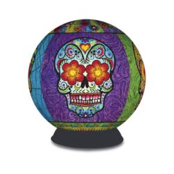 Puzzle Sphere - Day of the Dead Cultural Art 3D Puzzle