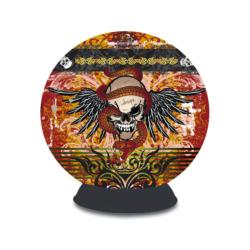 Puzzle Sphere - Skull Tattoo Graphics / Illustration 3D Puzzle