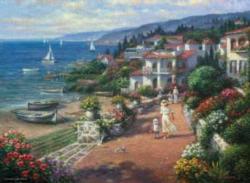 Coastal Tranquility Seascape / Coastal Living Jigsaw Puzzle