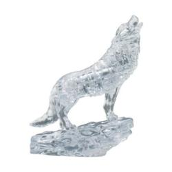 Clear Wolf Wolves Crystal Puzzle