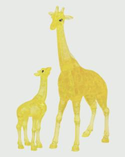 Giraffe & Baby Animals Crystal Puzzle