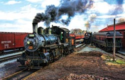 At the Trainyard Trains Jigsaw Puzzle