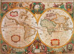 Old Map Geography Jigsaw Puzzle