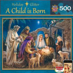 A Child is Born Christmas Jigsaw Puzzle