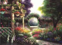 Floral Tapestry Garden Jigsaw Puzzle