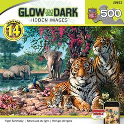 Tiger Sanctuary - Hidden Image 500 Pieces Tigers Jigsaw Puzzle