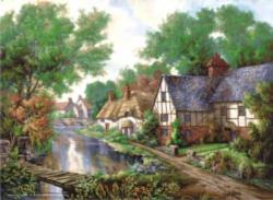 Chelsworth Village Cottage/Cabin Jigsaw Puzzle
