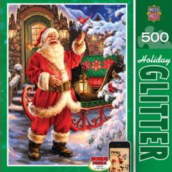 Jolly Saint Nick (Holiday Glitter) Christmas Jigsaw Puzzle