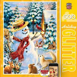 Holiday Party (Holiday Glitter) Snowman Jigsaw Puzzle
