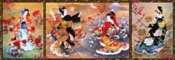 Oriental Triptych Asian Art Jigsaw Puzzle